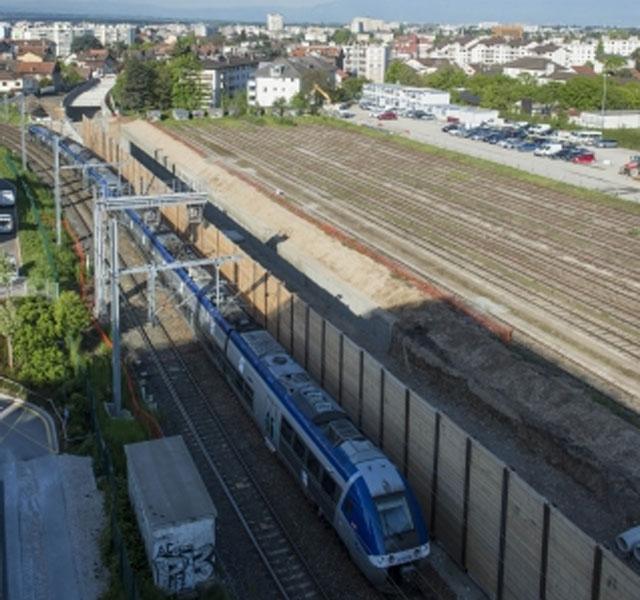 CEVA Portion Gare d'Annemasse > rue du Jura