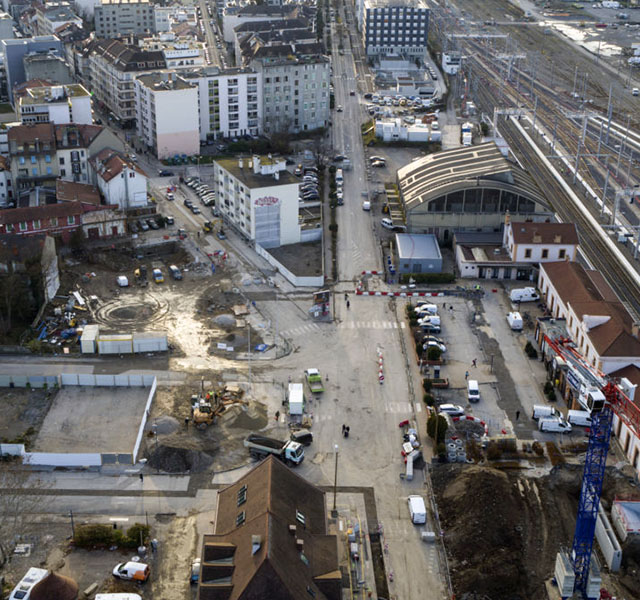 La gare change de visage avec le Pôle d'échanges multimodal - aménagement du parvis sud