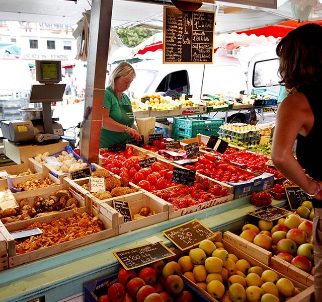 Le marché d'Annemasse